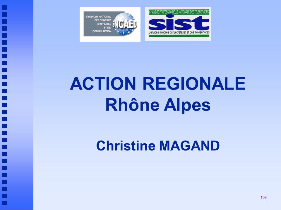 ACTION REGIONALE Rhône Alpes