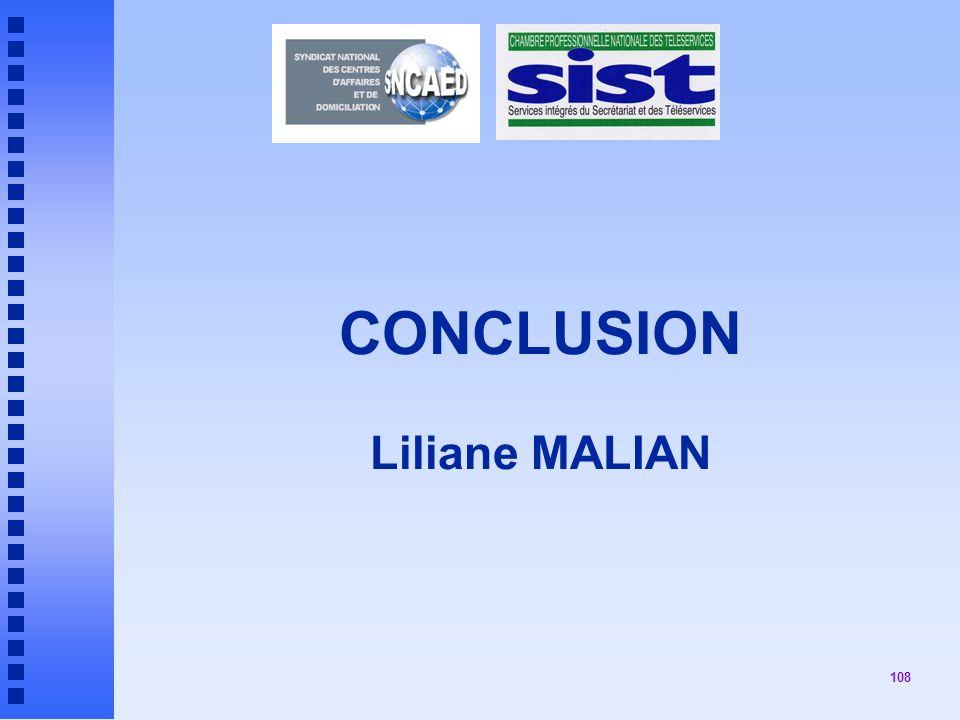 CONCLUSION Liliane MALIAN