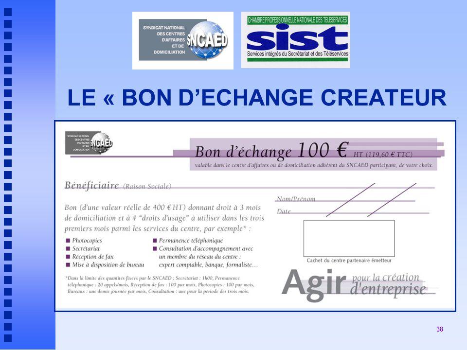 LE « BON D'ECHANGE CREATEUR