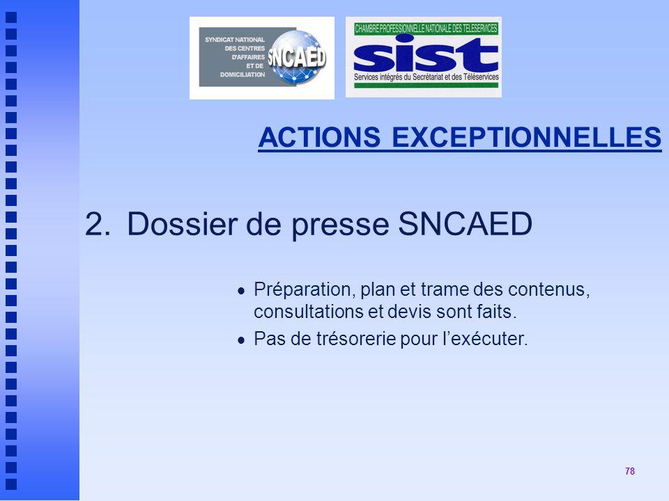 2. Dossier de presse SNCAED