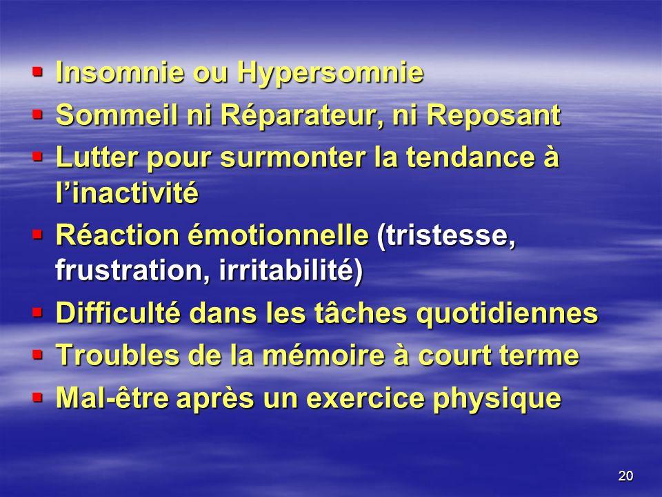 Insomnie ou Hypersomnie