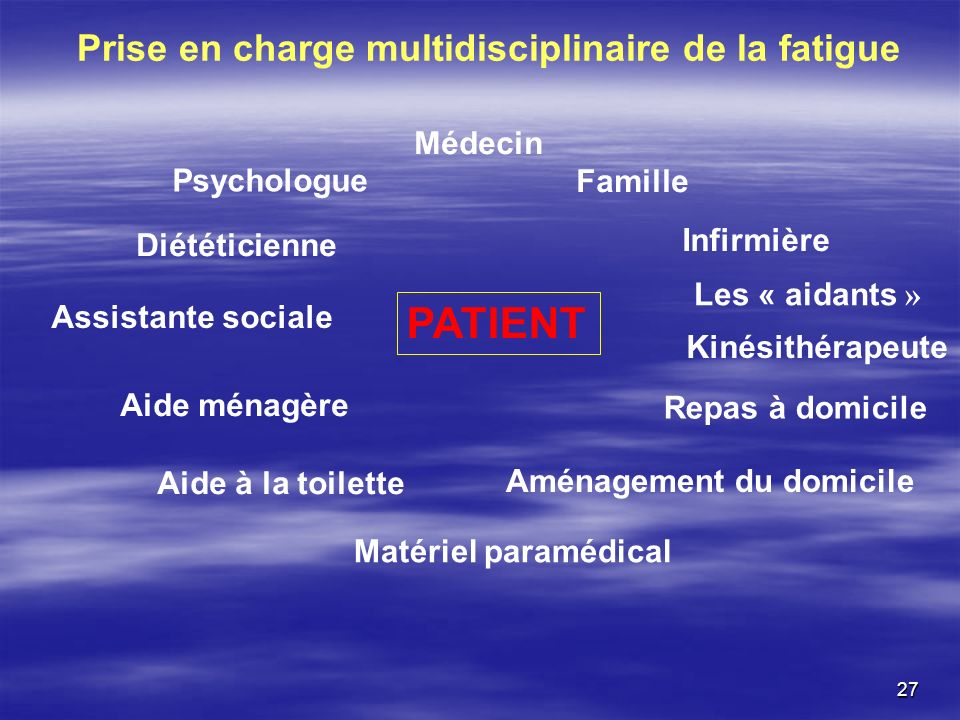 Prise en charge multidisciplinaire de la fatigue