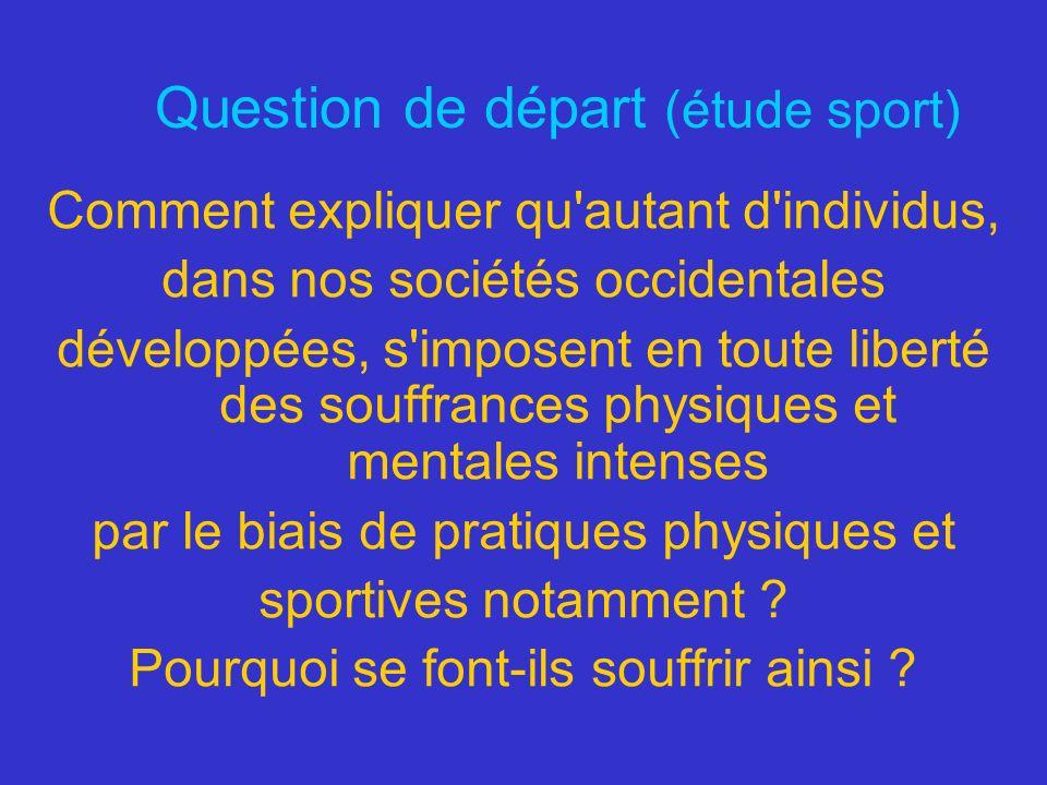 Question de départ (étude sport)