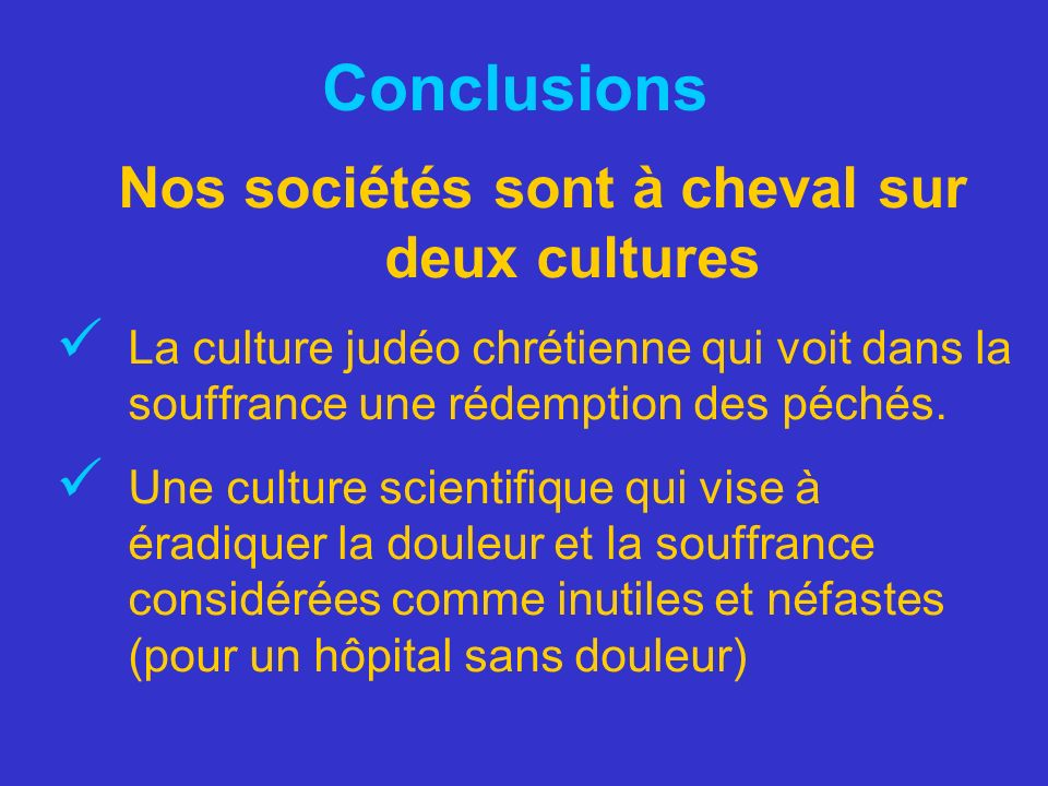 Nos sociétés sont à cheval sur deux cultures