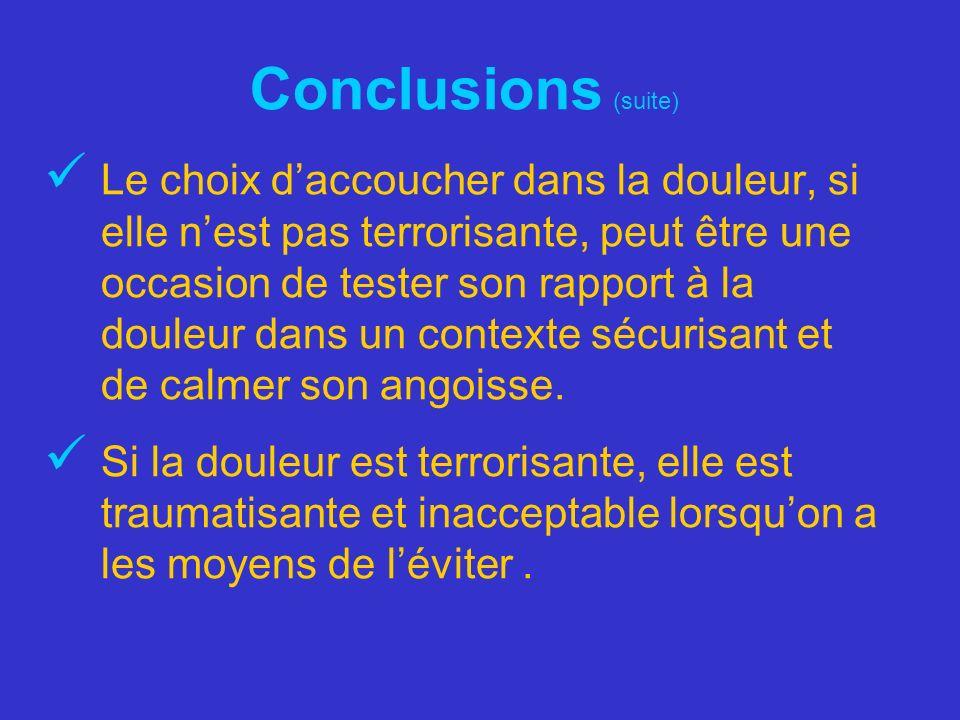 Conclusions (suite)