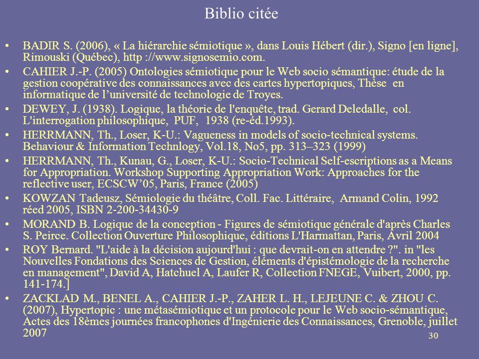 Biblio citée