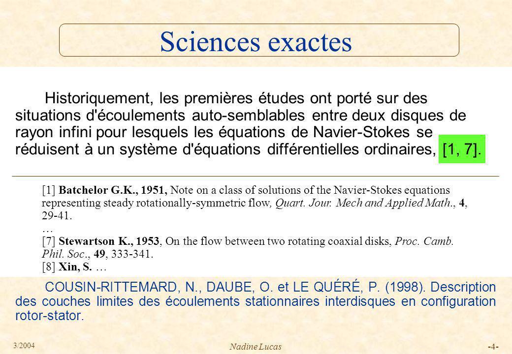 Sciences exactes