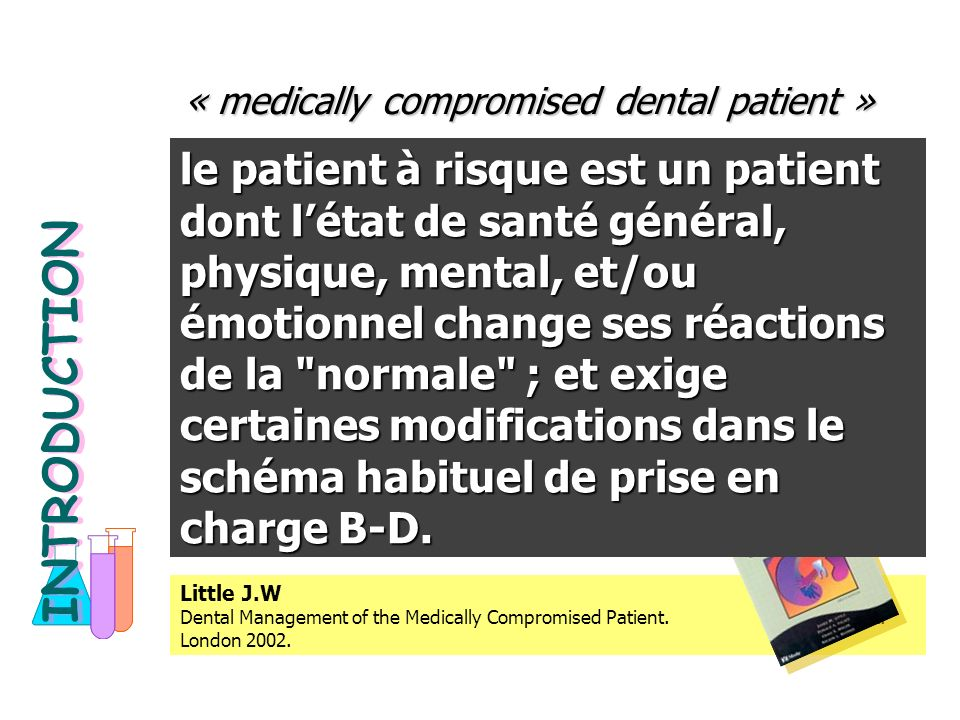 « medically compromised dental patient »
