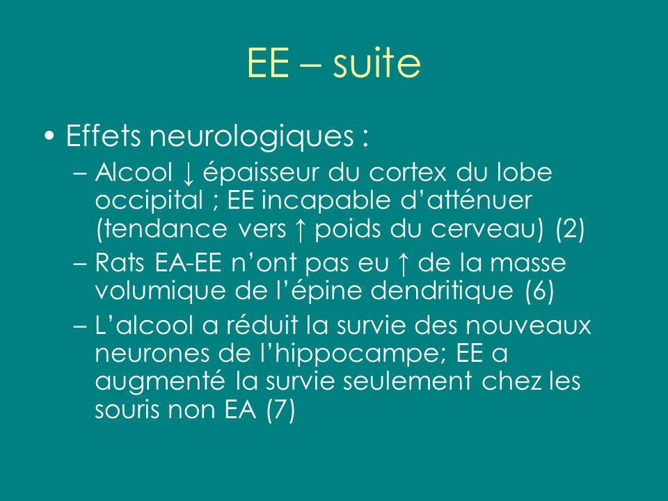 EE – suite Effets neurologiques :