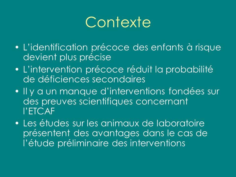 Contexte L'identification précoce des enfants à risque devient plus précise. L'intervention précoce réduit la probabilité de déficiences secondaires.