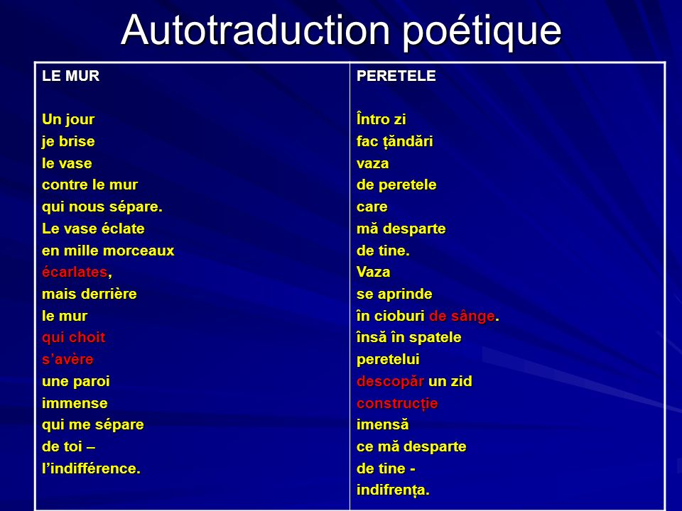Autotraduction poétique