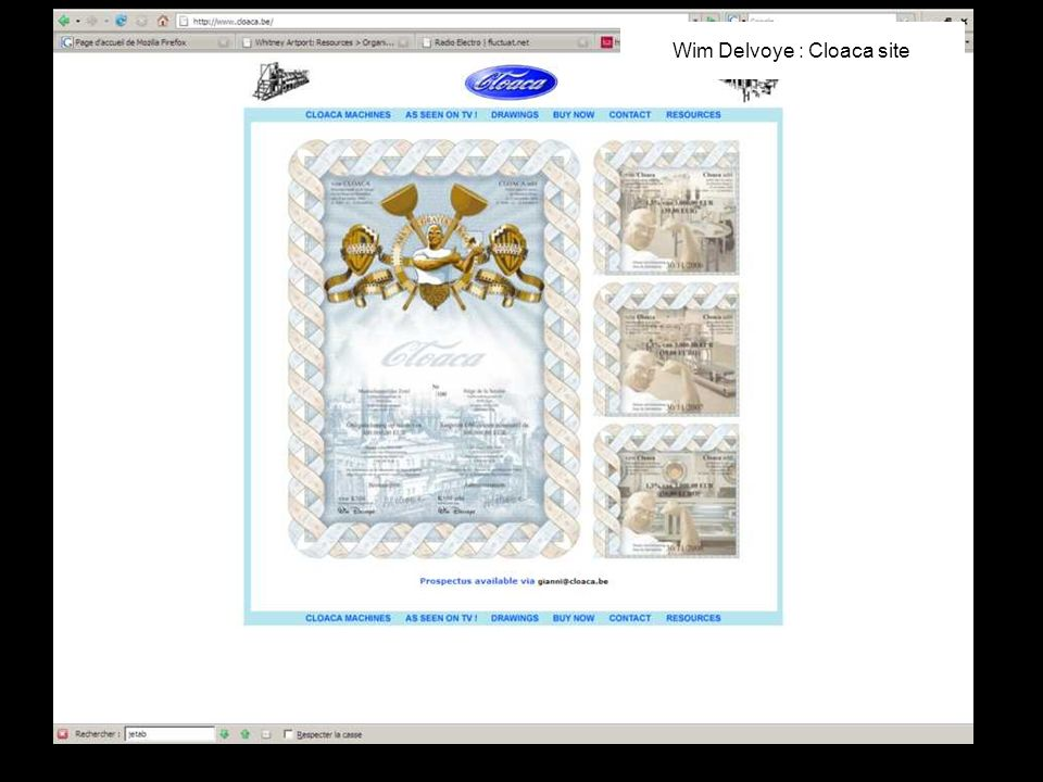 Wim Delvoye : Cloaca site