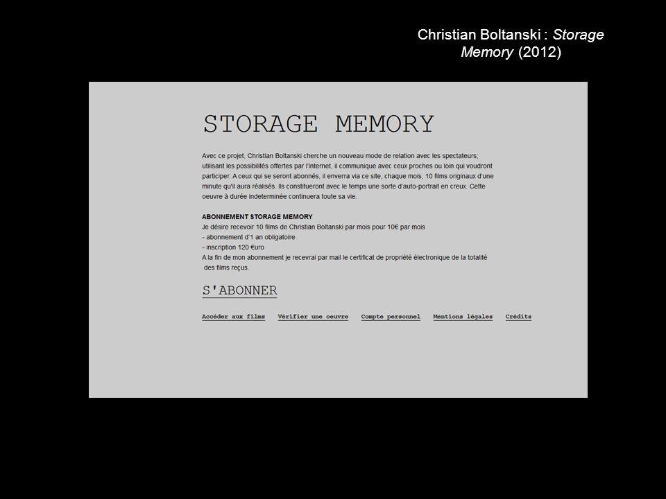 Christian Boltanski : Storage Memory (2012)