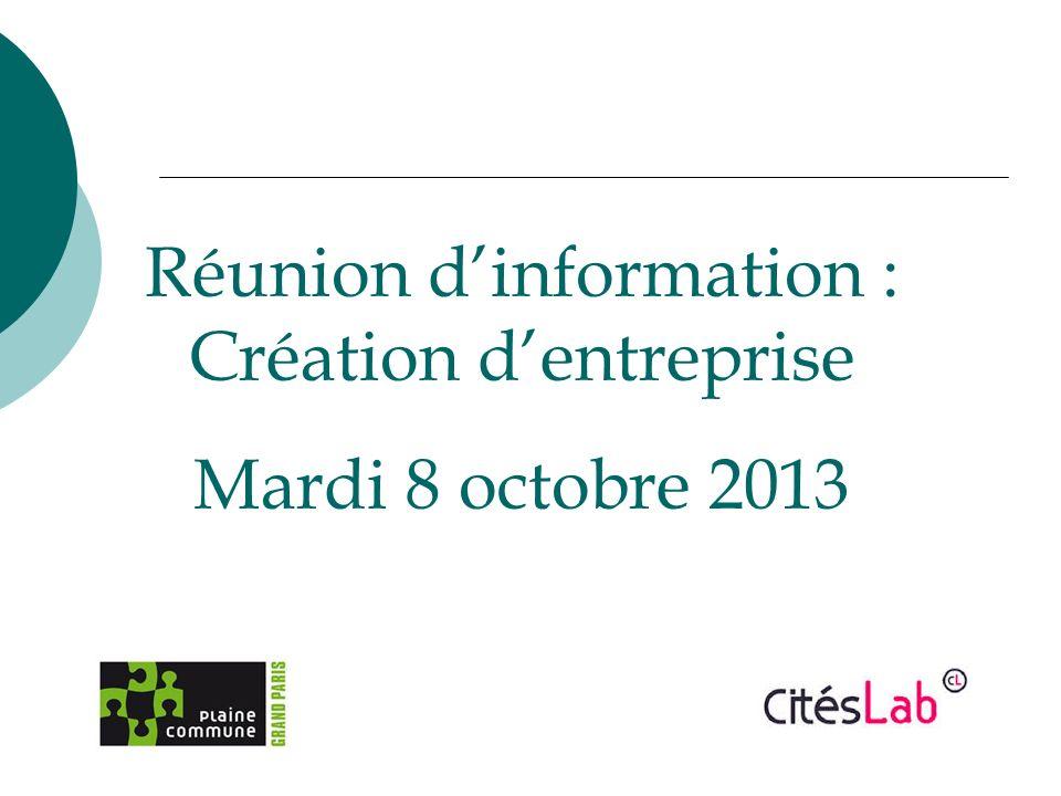 Réunion d'information : Création d'entreprise