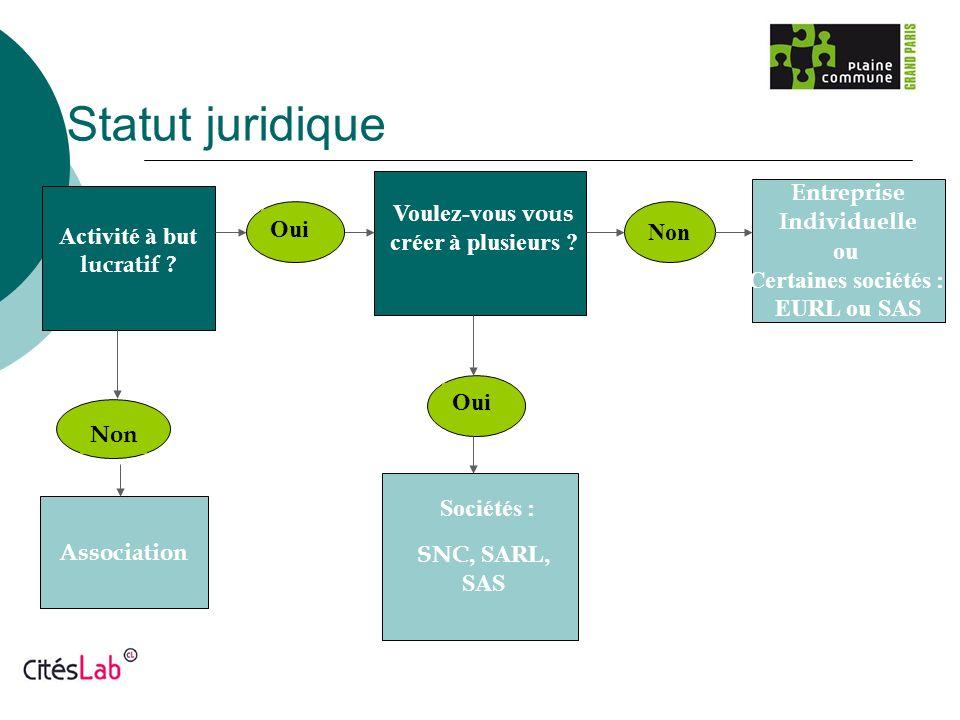 Statut juridique Entreprise Individuelle