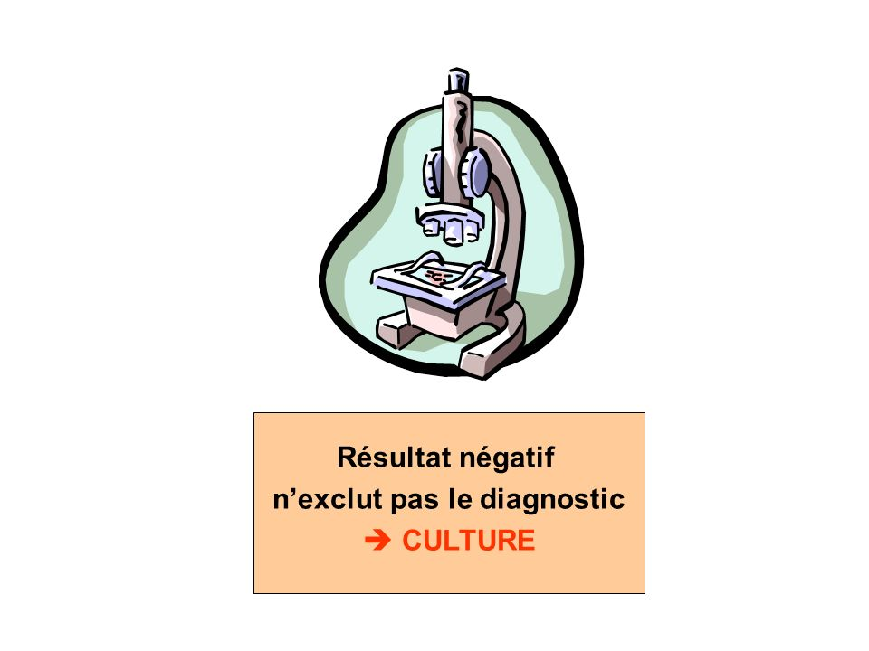 n'exclut pas le diagnostic