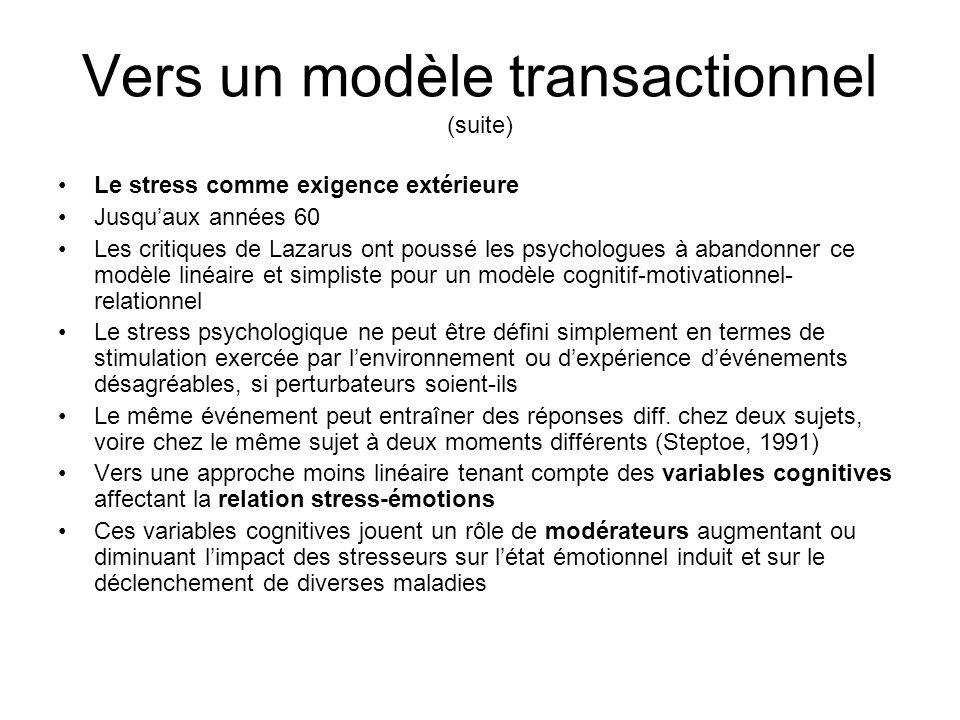 Vers un modèle transactionnel (suite)