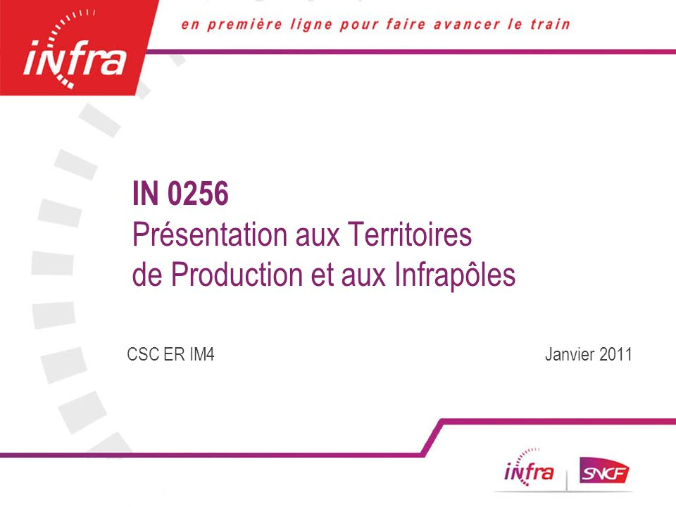 IN 0256 Présentation aux Territoires de Production et aux Infrapôles
