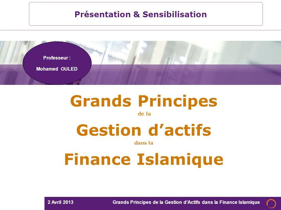 Grands Principes de la Gestion d'actifs dans la Finance Islamique