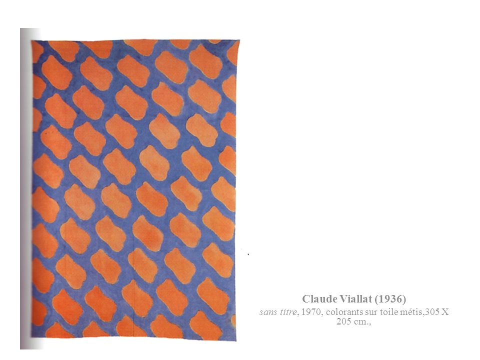sans titre, 1970, colorants sur toile métis,305 X 205 cm.,
