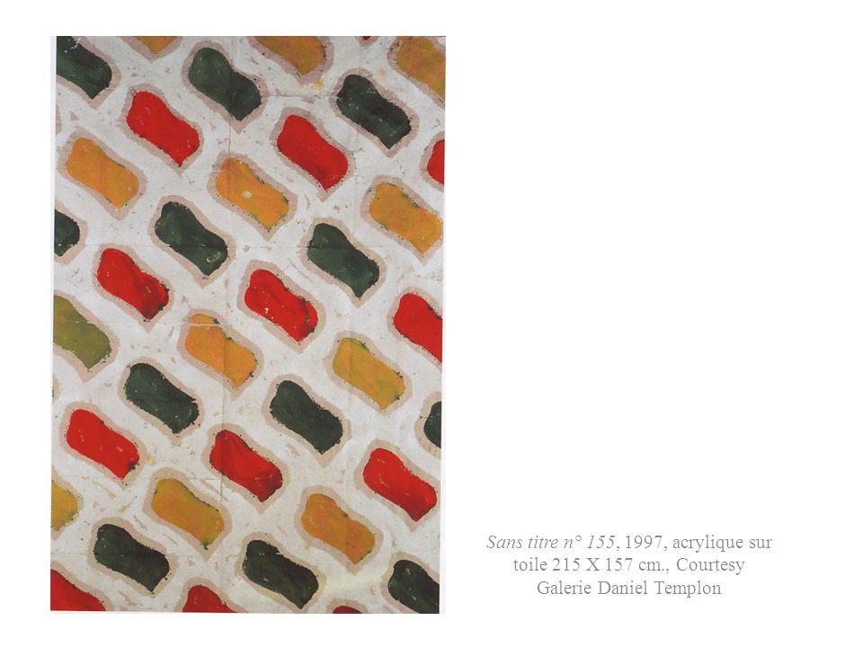 Sans titre n° 155, 1997, acrylique sur toile 215 X 157 cm