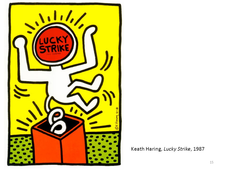 Keath Haring, Lucky Strike, 1987