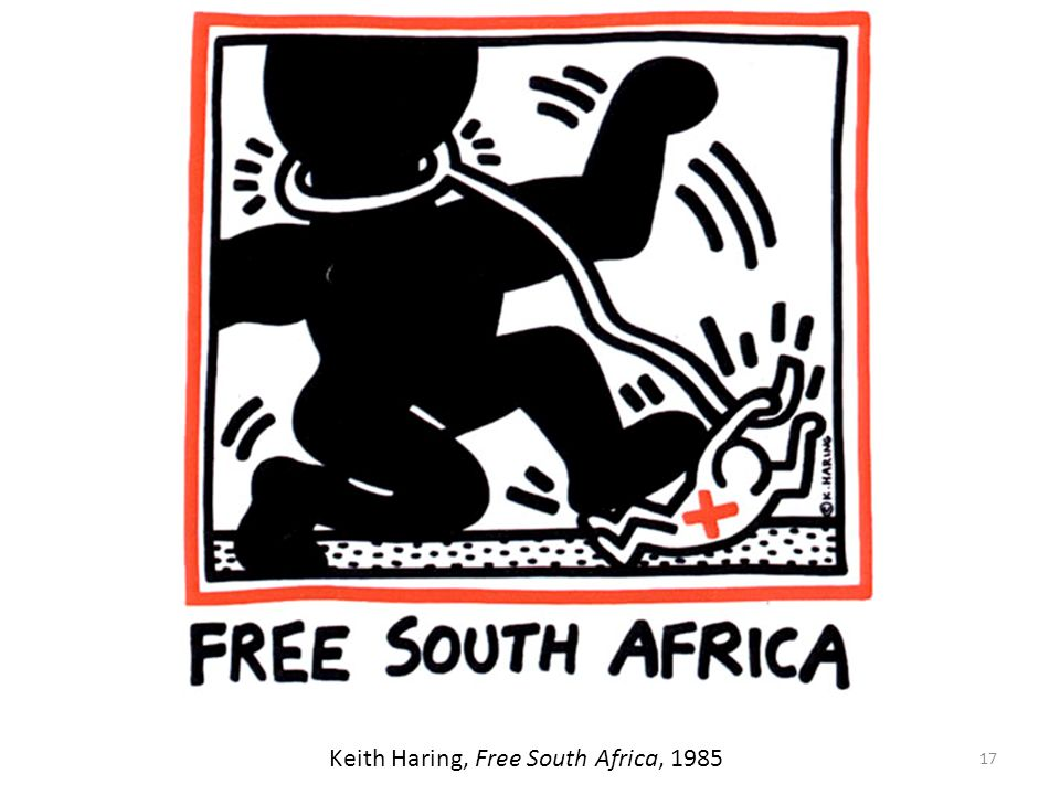 Keith Haring, Free South Africa, 1985