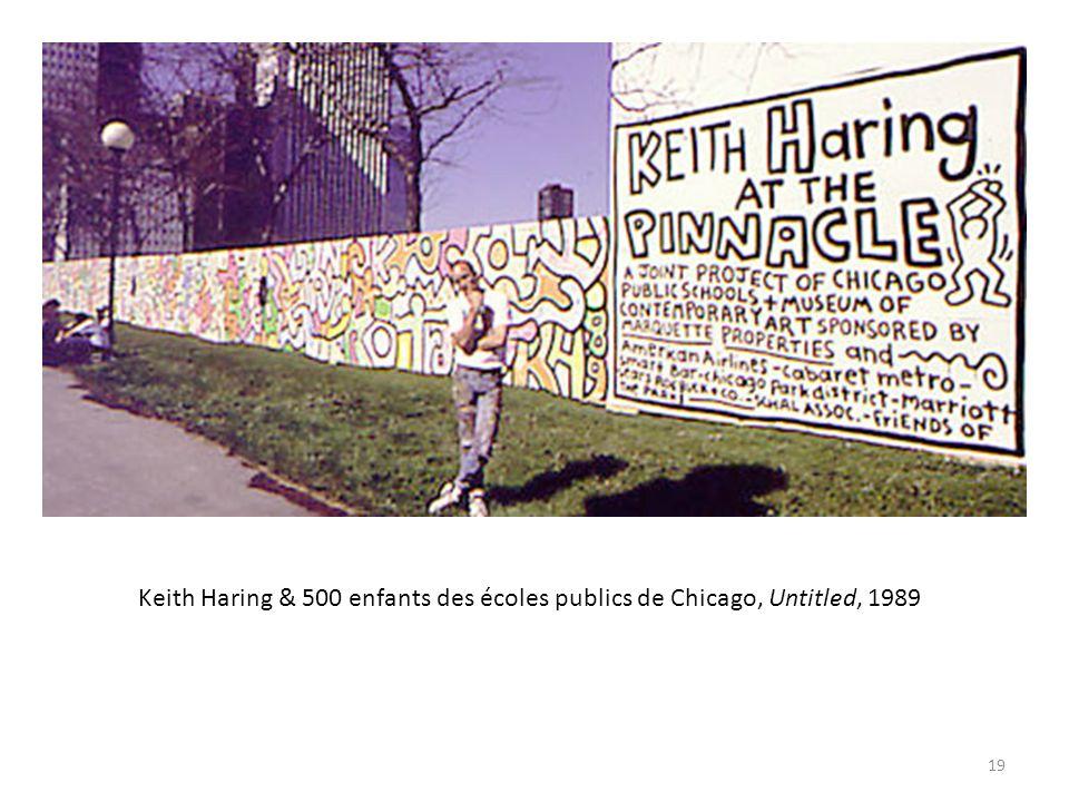 Keith Haring & 500 enfants des écoles publics de Chicago, Untitled, 1989