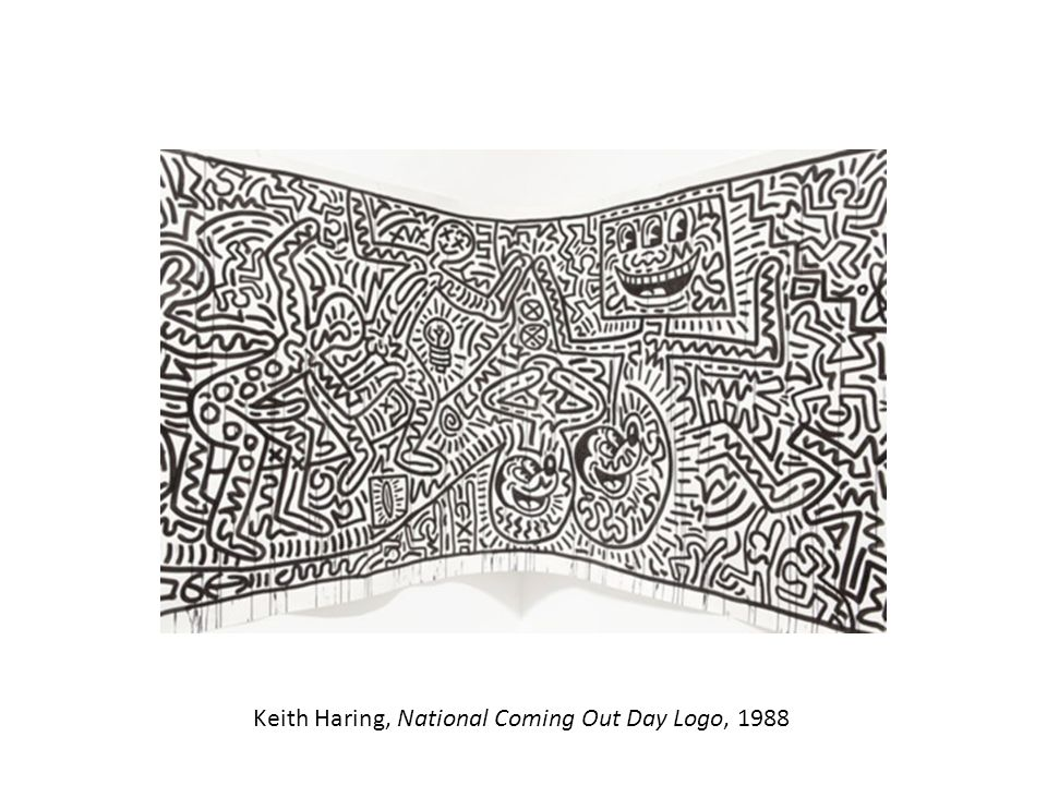 Keith Haring, National Coming Out Day Logo, 1988