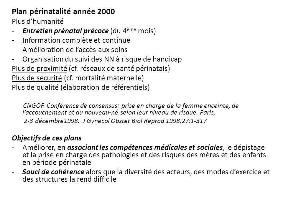 Plan périnatalité année 2000