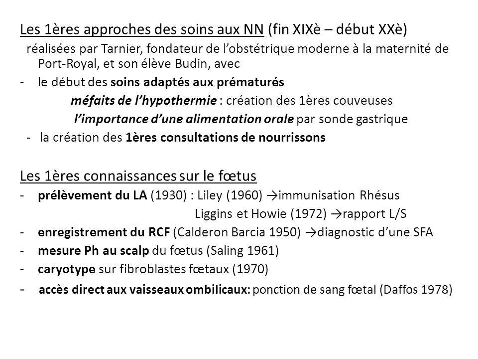 Les 1ères approches des soins aux NN (fin XIXè – début XXè)