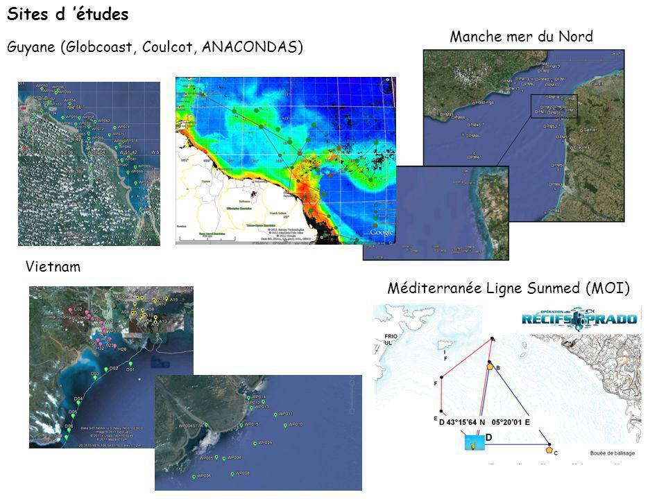Sites d 'études Manche mer du Nord