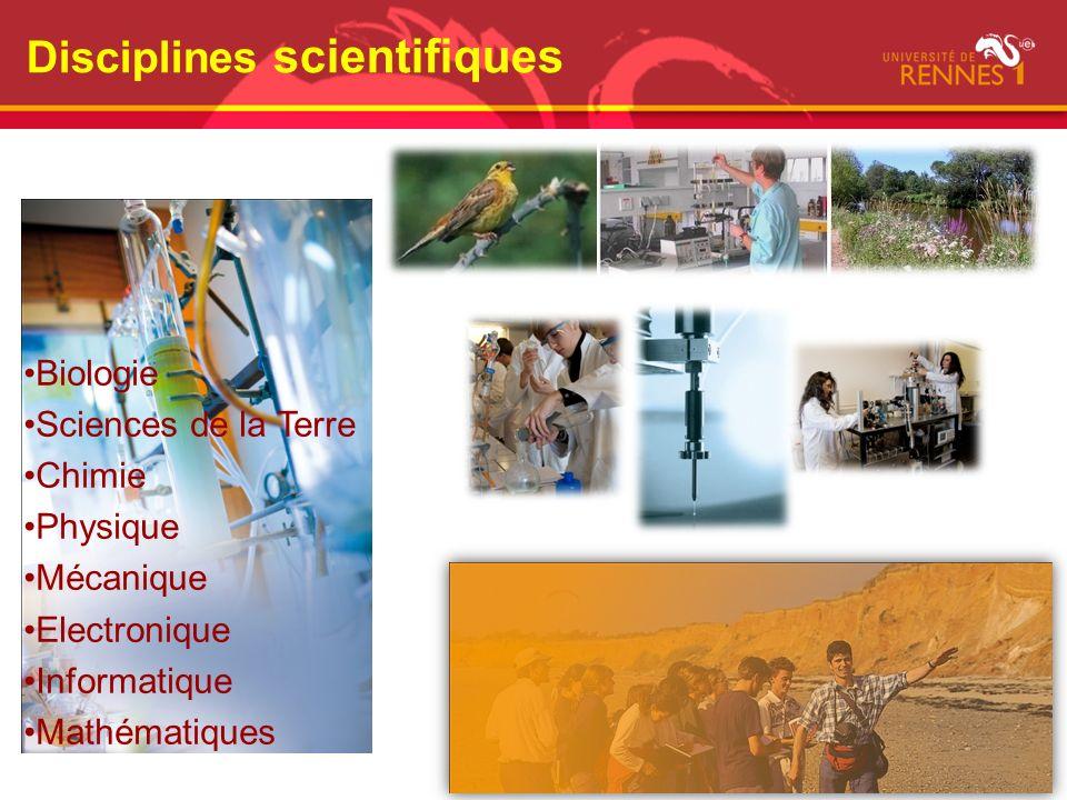 Disciplines scientifiques