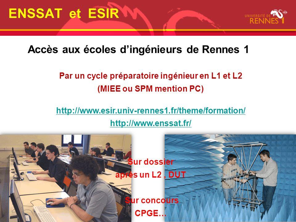Accès aux écoles d'ingénieurs de Rennes 1