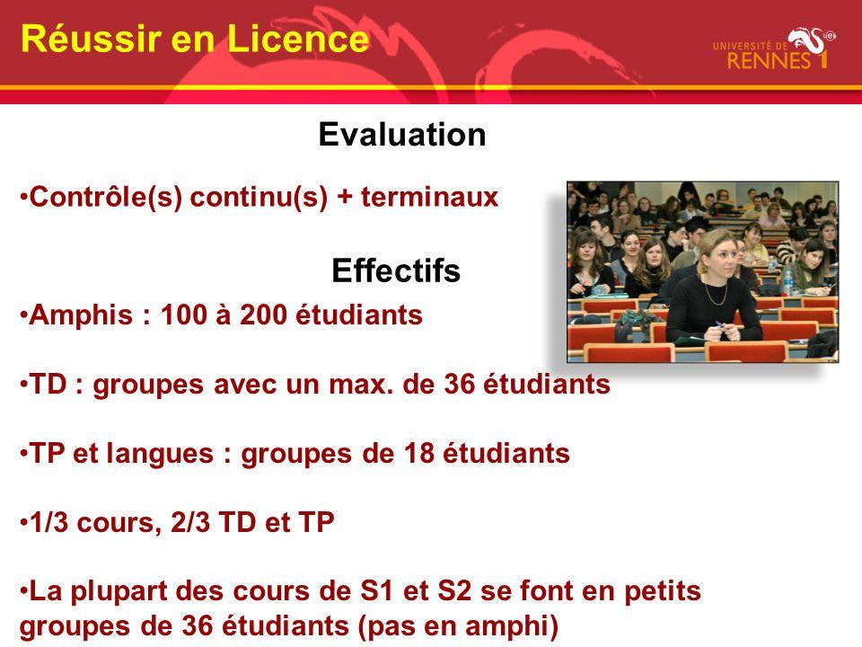 Réussir en Licence Evaluation Effectifs