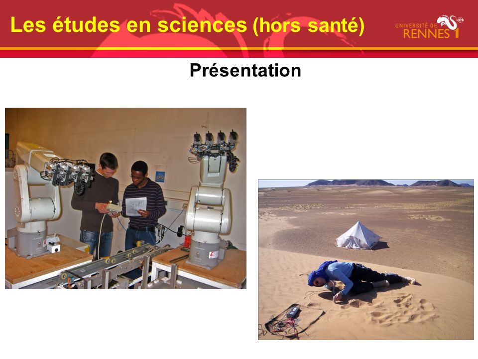Les études en sciences (hors santé)