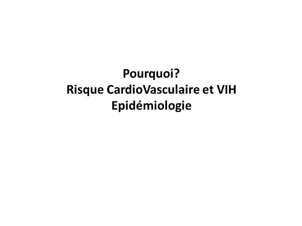 Pourquoi Risque CardioVasculaire et VIH Epidémiologie