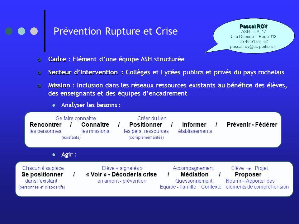 Prévention Rupture et Crise