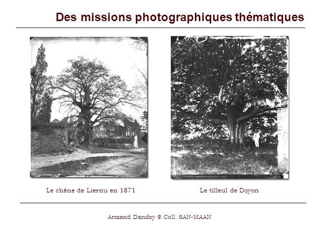 Des missions photographiques thématiques