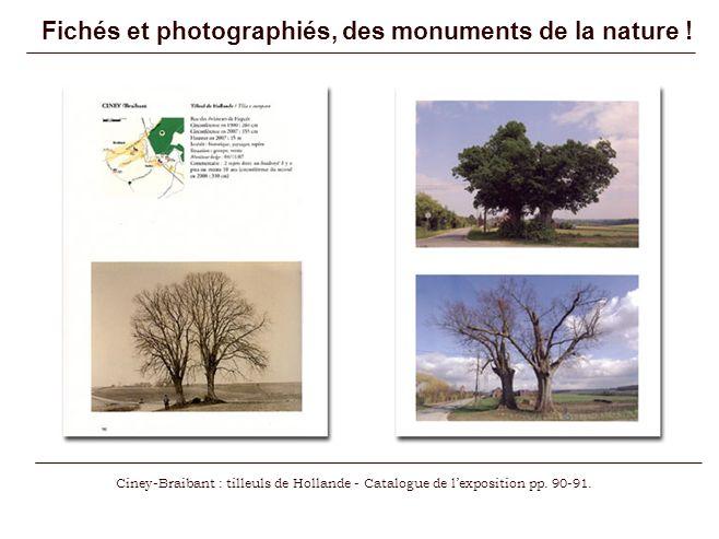 Fichés et photographiés, des monuments de la nature !