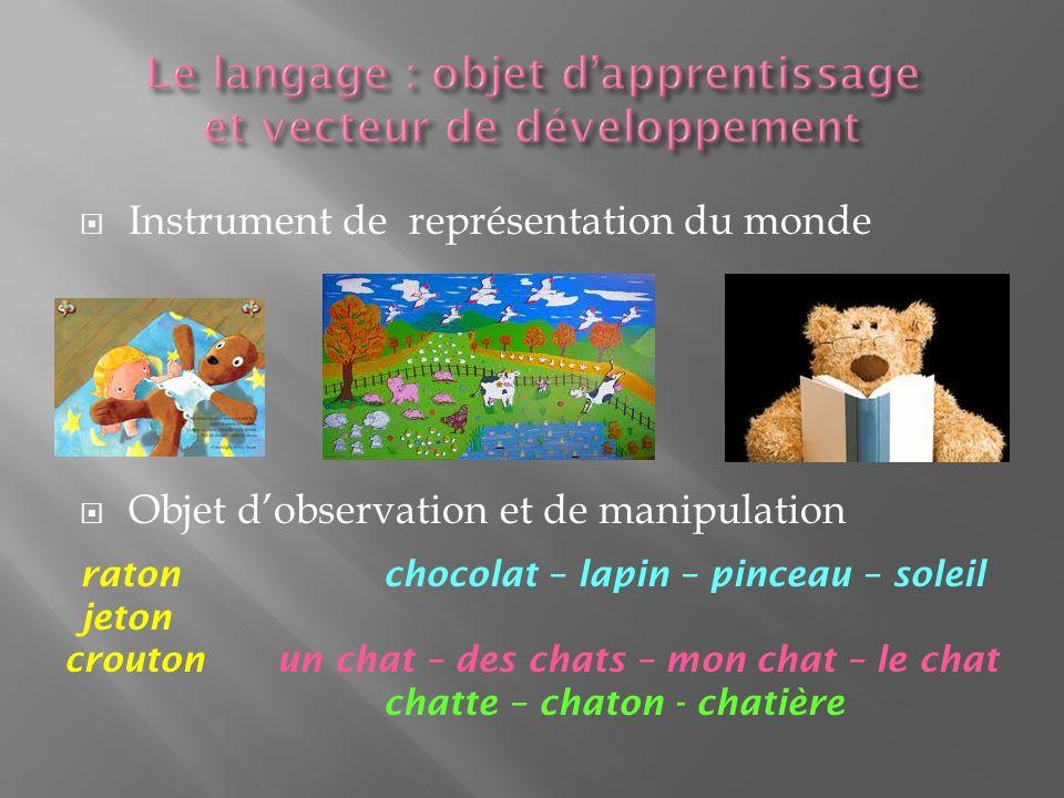 Le langage : objet d'apprentissage et vecteur de développement