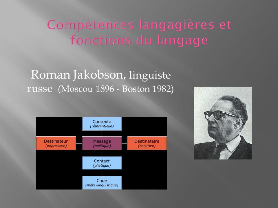 Compétences langagières et fonctions du langage