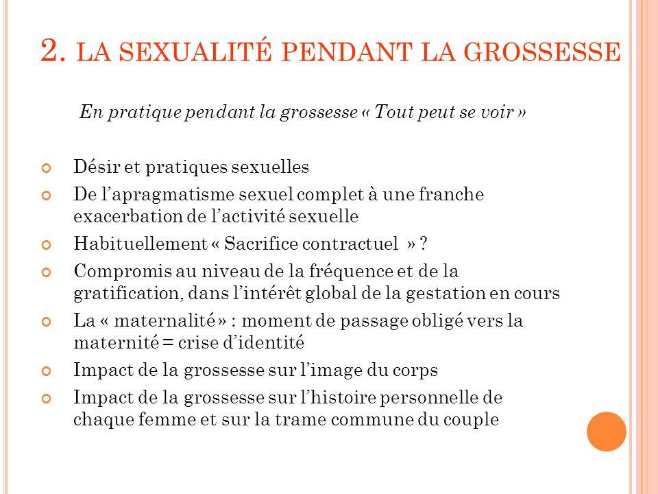 2. LA SEXUALITÉ PENDANT LA GROSSESSE