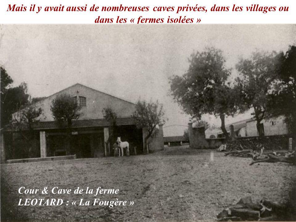 Mais il y avait aussi de nombreuses caves privées, dans les villages ou dans les « fermes isolées »