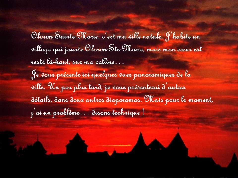 Oloron-Sainte-Marie, c'est ma ville natale. J'habite un
