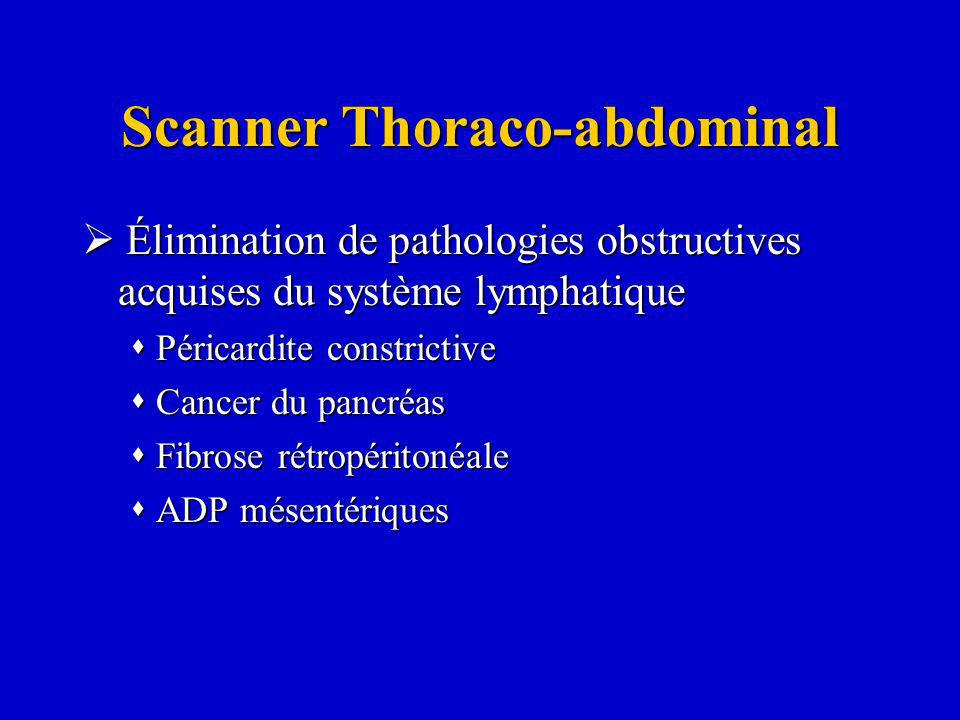 Scanner Thoraco-abdominal