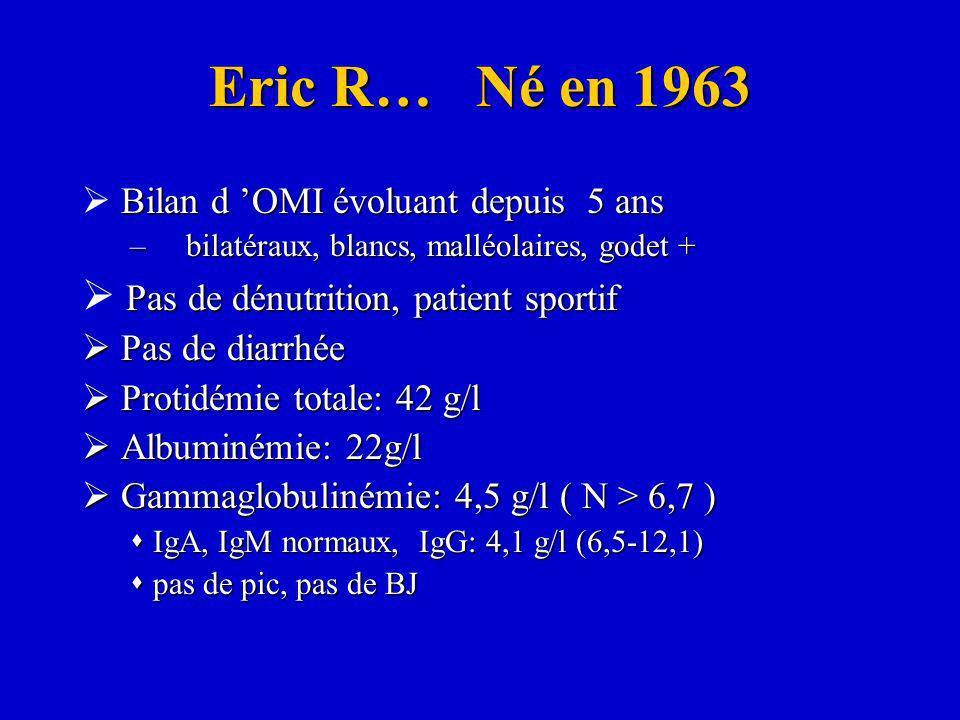 Eric R… Né en 1963  Pas de dénutrition, patient sportif