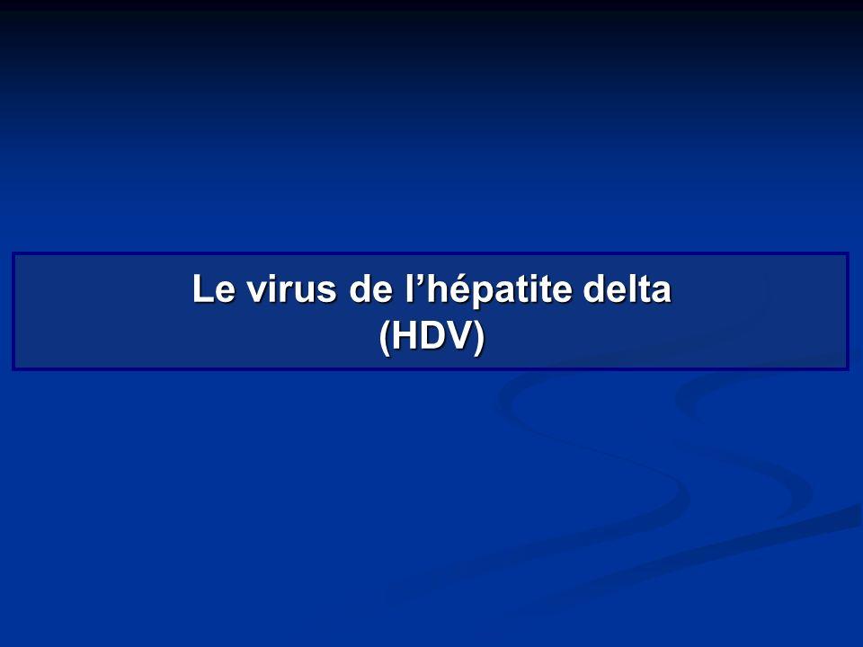 Le virus de l'hépatite delta (HDV)