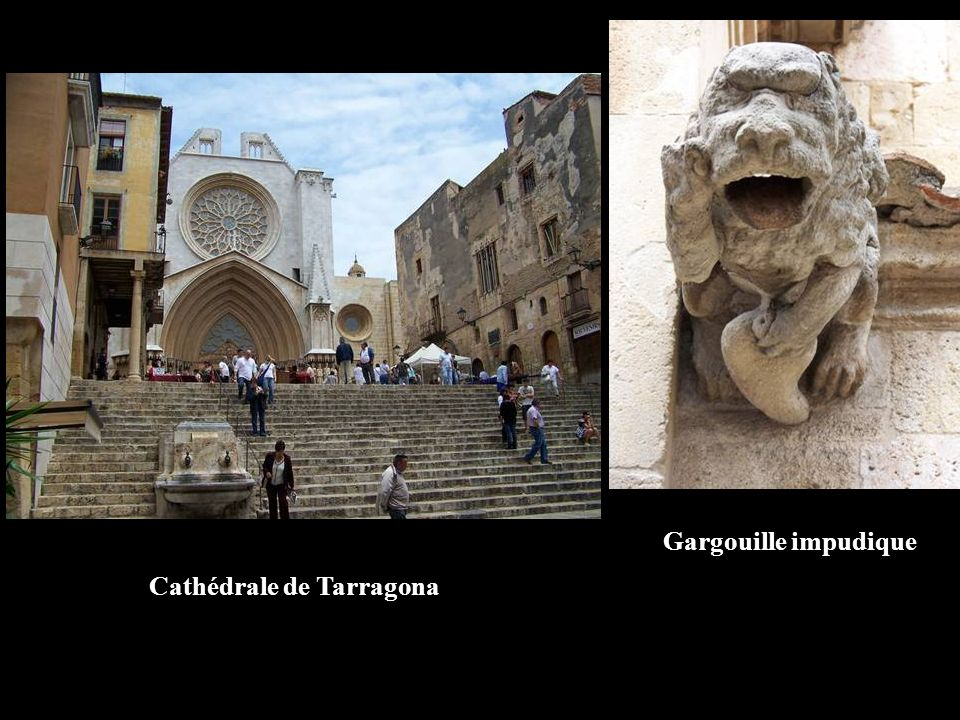 Gargouille impudique Cathédrale de Tarragona