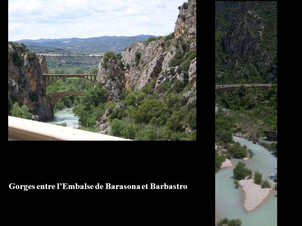Gorges entre l'Embalse de Barasona et Barbastro